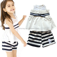 KS40435G New design 2 pcs striped cheap india wholesale clothing