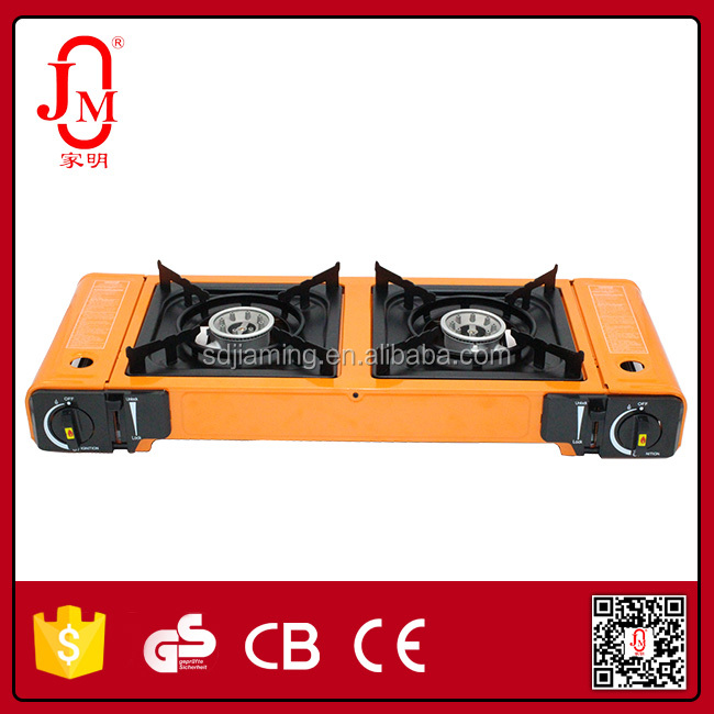 two burner camping gas stove