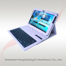 "For samsung galaxy tab 10.1"" 7510 Detachable wireless Bluetooth Keyboard with PU leather case cover"