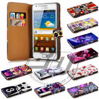 For Samsung Galaxy S4 Mini I9190 Case Print Card Holder Flip PU Folio Wallet Book Style Leather Case Cover Moible Phone Csaes