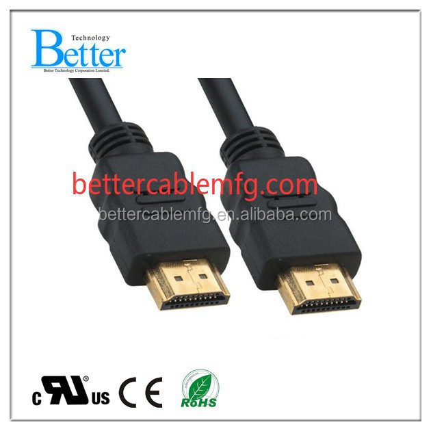 1.4 Version good quality fast speed HDMI to hdmi cable with ethernet support 3D