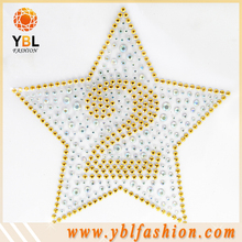 hotfix color ab strass transfers, star designs for kids dress decorate