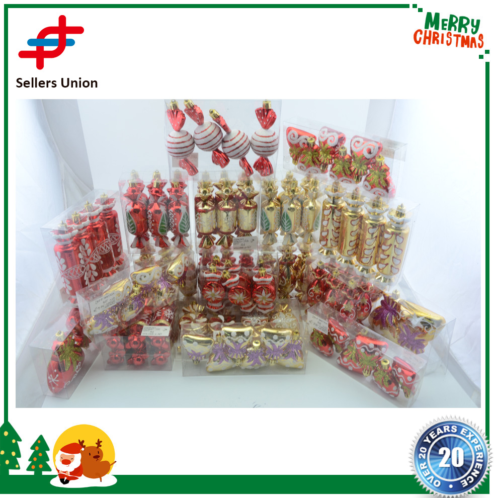 2017 Decorative Artificial Glitter Christmas Candy for Xmas tree decoration