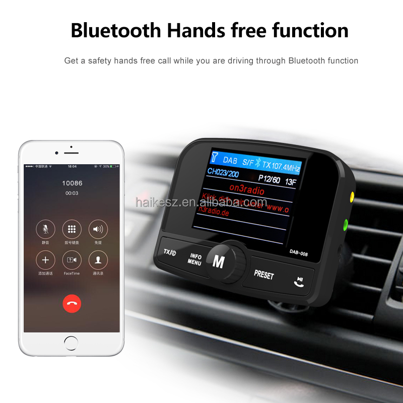 In-Car DAB Digital Radio And Bluetooth Car Adapters DAB Radio