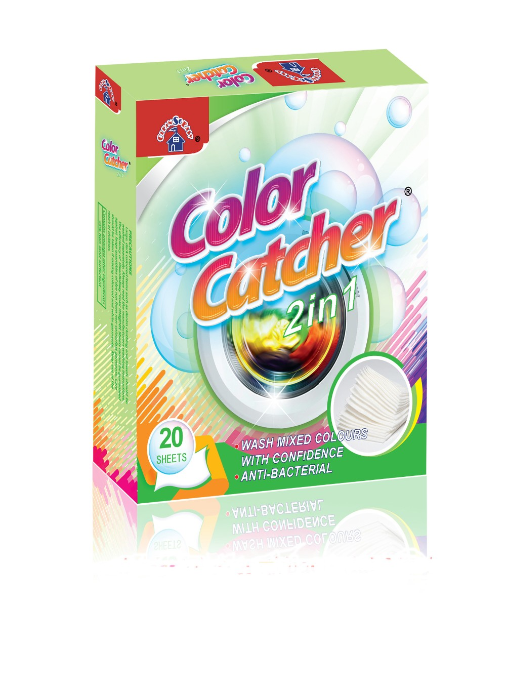 OEM service fabric nonwoven cloth color catcher sheets used in washing machine to trap loose colors/dyes