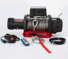 heavy duty 17000lb electric winch 8 ton offroad recovery winch with synthetic rope
