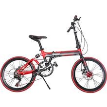 smabike wholesale high quality 20 inch green city bike folding bike full suspension system ladies bicycle with folding pedal