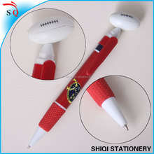 Advertising rugby shape push ball pen with logo print