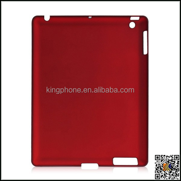 Plain back covers for ipad 3 case, for pc single bottom material case for ipad3