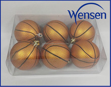 promotional sports ball hanging plastic basketball decoration