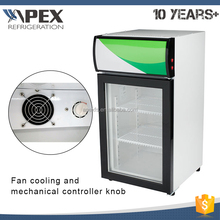 Small display cooler drink display cooler/countertop cooler showcase/electric mini fridge