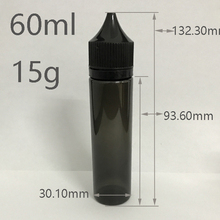 60ml black Gorilla bottle PET material E-Cigarette liquid bottle black unicorn bottle Many stocks