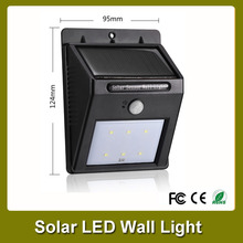 Outdoor garden light solar power pir motion sensor Sensor Wall belysning