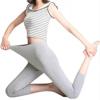 Cropped best flexible woman 90%modal 10%spandex blank new arrival light ladies running leggings