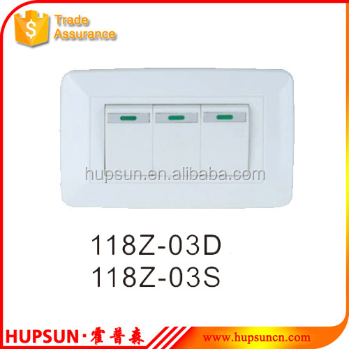 American style switch single/double control 250V electric wall switch