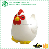 2017 Ce Approval Factory Directly Promotional Foam Custom Chicken Stress Squeeze Toy