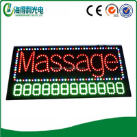 Led digital sign board high quality aluminium flashing led signage factory