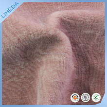 100% POLYESTER water ripple pattern desgin fake fur fabric