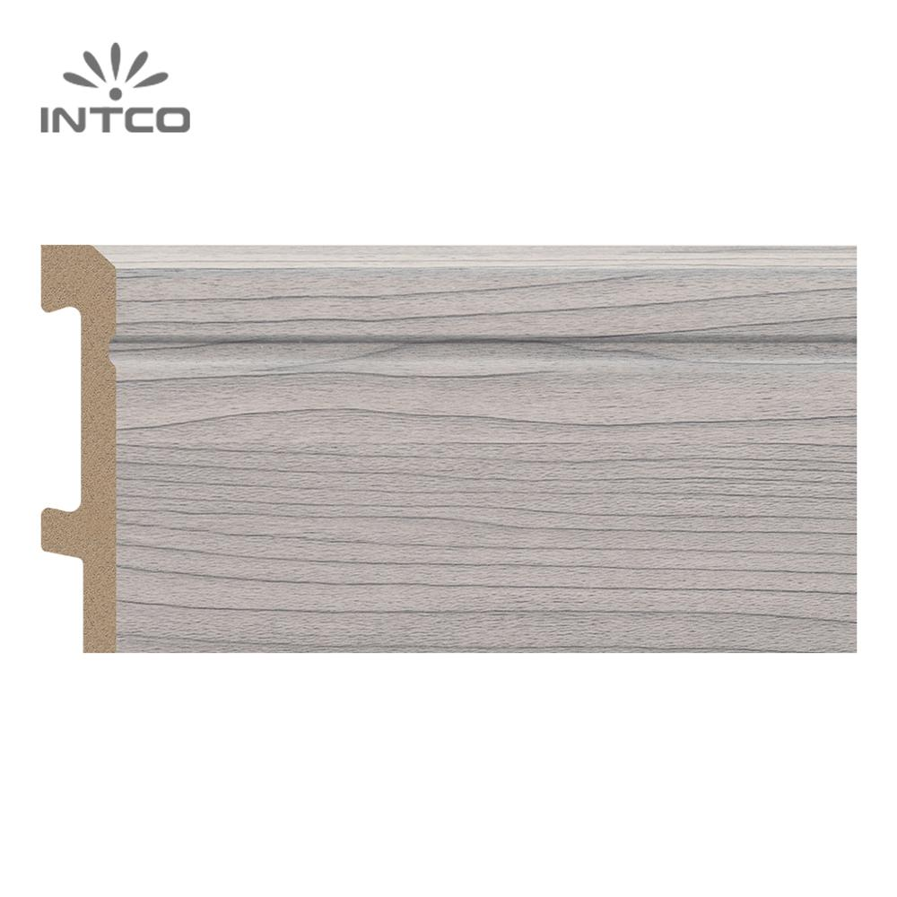 INTCO Waterproof Decorative Wood Color Baseboard Floor Accessories Laminate Skirting Board