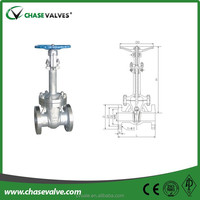 China manufacturer stainless steel flange type rising stem gate valve 3 inch