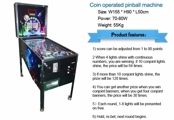 Qingfeng trade assurance arcade flipper gambling pinball machine for sale