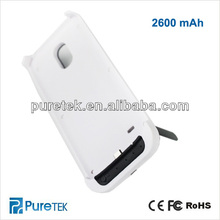 External Power Bank Battery Case For SAMSUNG S4 Mini With Integrated Stand 2600mAh