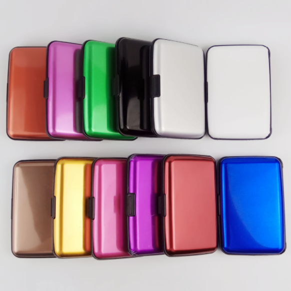 Aluminum business card holder metal business card case Aluminum color card box