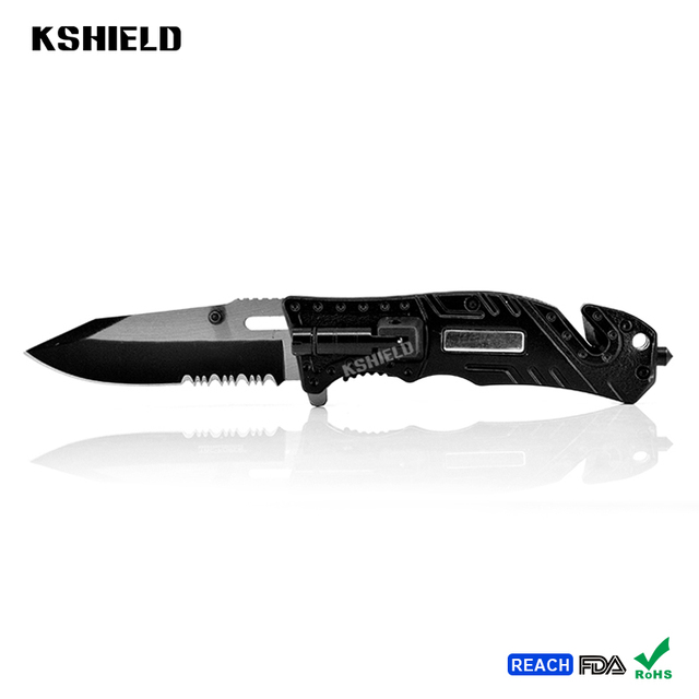 New Pocket Folding Knife Foldable Knife with Aluminum Handle Liner Lock