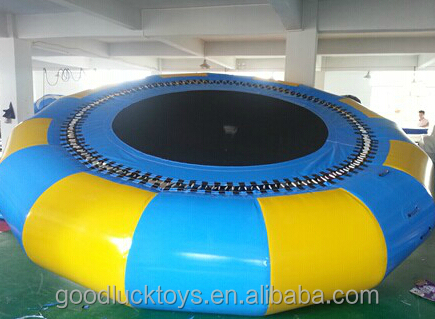 Huge sale extremely fun inflatable sea trampoline PVC new toy inflatable bouncer castle water trampoline