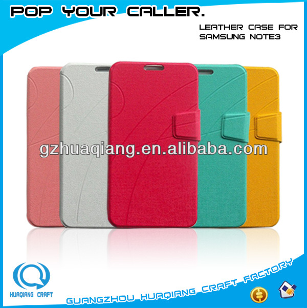 Guangzhou cellular accessories cheap cell phone leather case for samsung galaxy S5 I9600/Note 3