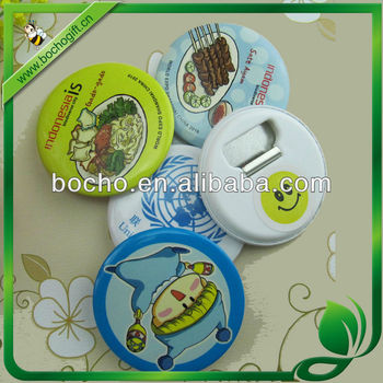 58mm button badge opener with magnet