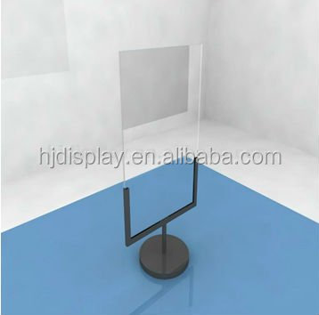 free standing popular metal and white acrylic menu holder