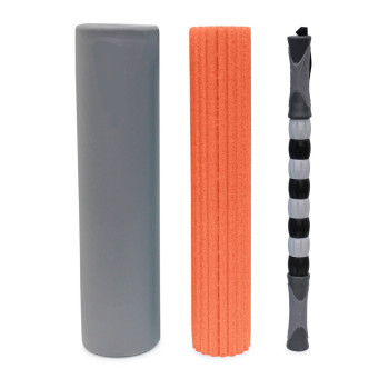 3 in 1 foam roller - Large 18 Inch Foam Roller for Myofascial Release, Foam Exercise Roller with High Medium Density