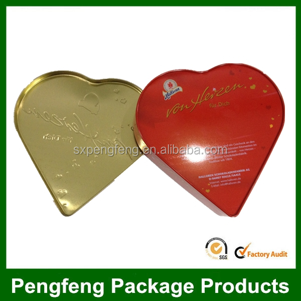 heart shape gift tin can for wedding