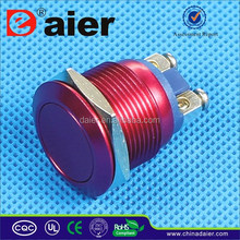 3A IP65 19mm Momentary waterproof OFF-(ON) type stainless steel sealed Anti-vandal push button switch waterproof 220V