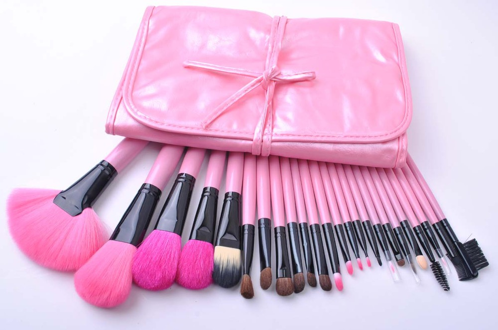 professional cosmetic brush sets with pink