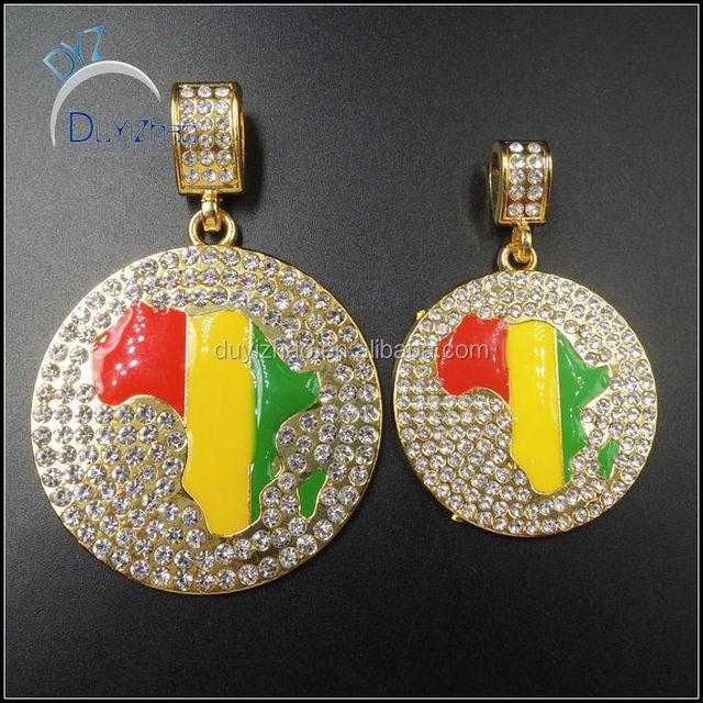DUYIZHAO jewelry factory wholesale fashion men pendant hip hop gold men pendant