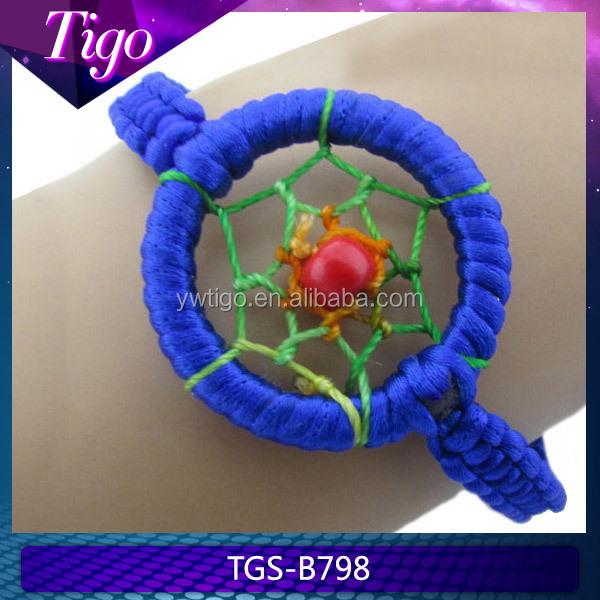 Macrame dreamcatcher bracelet indian style bracelet