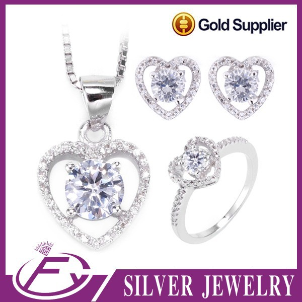 Best selling trends white quality cubic zircon 925 sterling silver costume jewelry spain