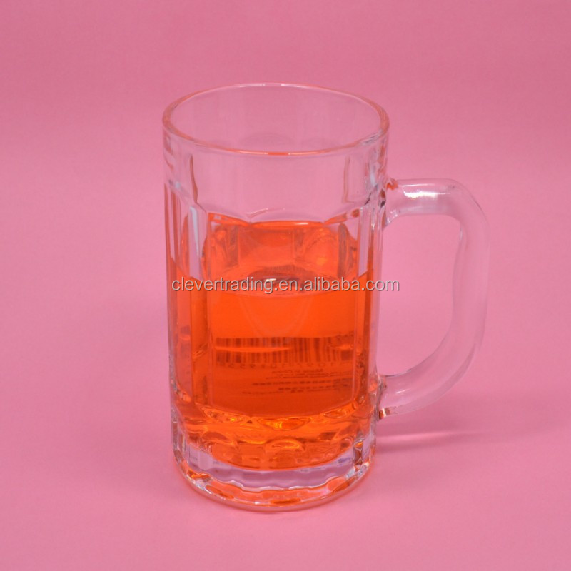 400ml Beer Glass Mugs/drink Glass Cup/ Glass Beer Mug Cup Beer Stein