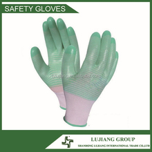 13 guage nylon knitted PVC coated working gloves LJ-XY74
