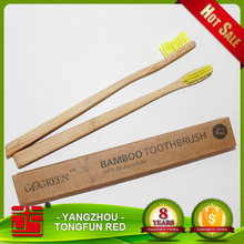 Most selling oem eco bamboo disposable toothbrush set for hotels