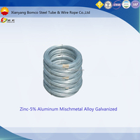 Gaosuo Zinc-5%Aluminum mischmetal alloy galvanized high carbon steel wire