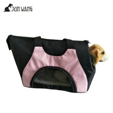 Black oxford Travel Dog and Cat Pet Carrier Tote Hand Bag