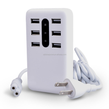 Multi usb travel charger with LED light 5V7A output LED Wall Charger 6 usb ports LED wall charger