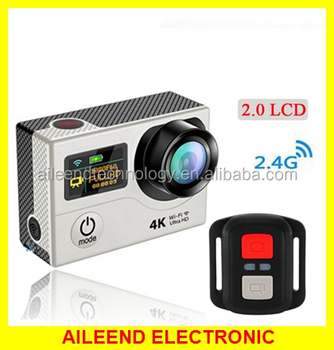 "2.4G Remote Control 1080P 2"" LCD Sports Video DVR Camera 4K WIFI Action Camera waterproof full hd 1080p sport camera"