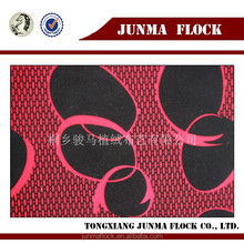 Black and red potato design made in China flocked curtain fabrics turkey