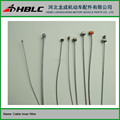 galvanized steel motorcycle cable inner wire head with plastic