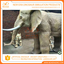 Zigong dinosaur factory life size elephant statues outdoor playground animal sculptures