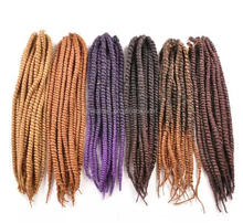 Havana Mambo Twist Crochet Braid Hair Synthetic Kinky Twist Hair Braing Havana Mambo Twists Braids Hair Extension